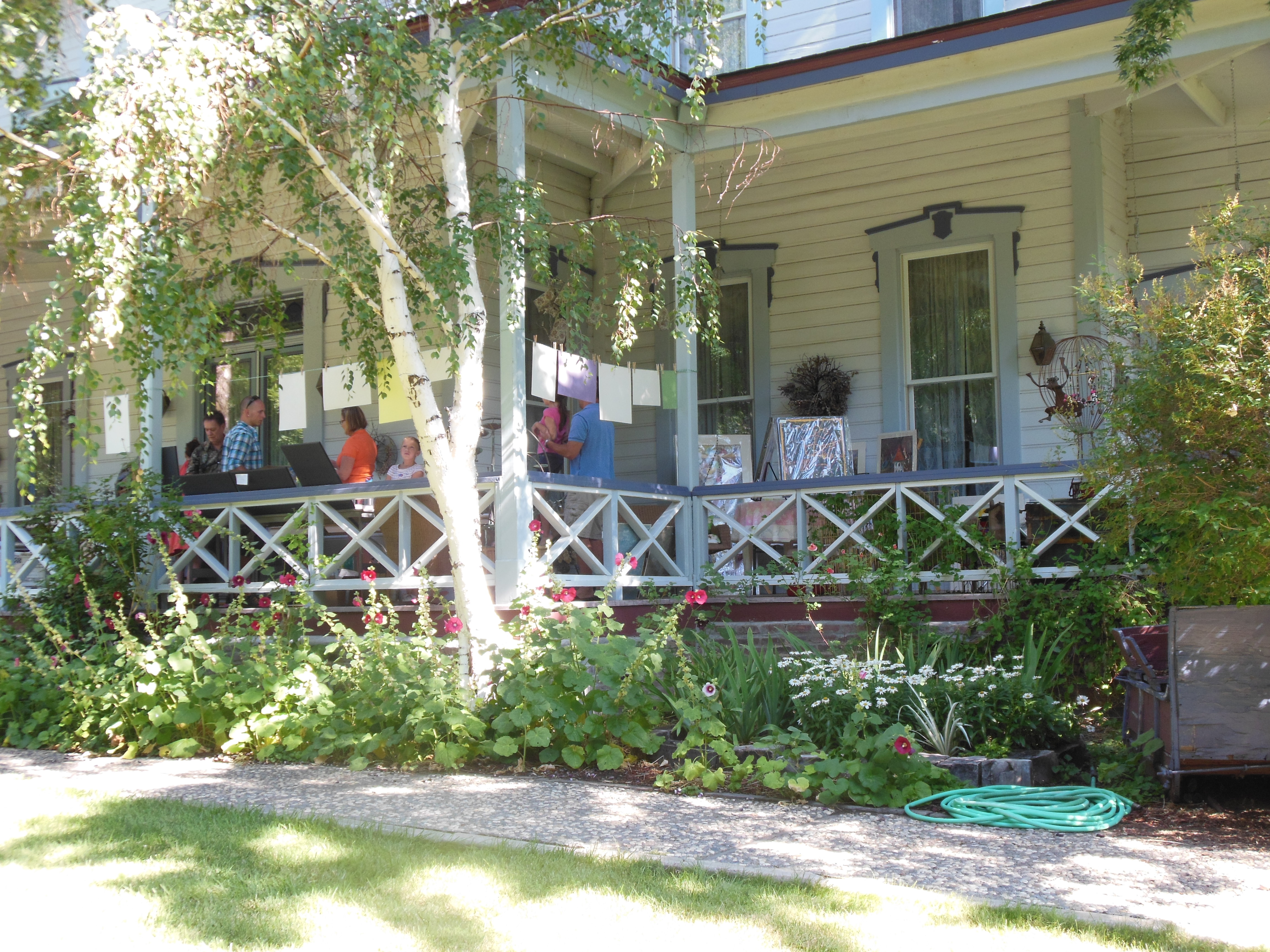 Art on the Porch, Bliss Mansion, summer 2014