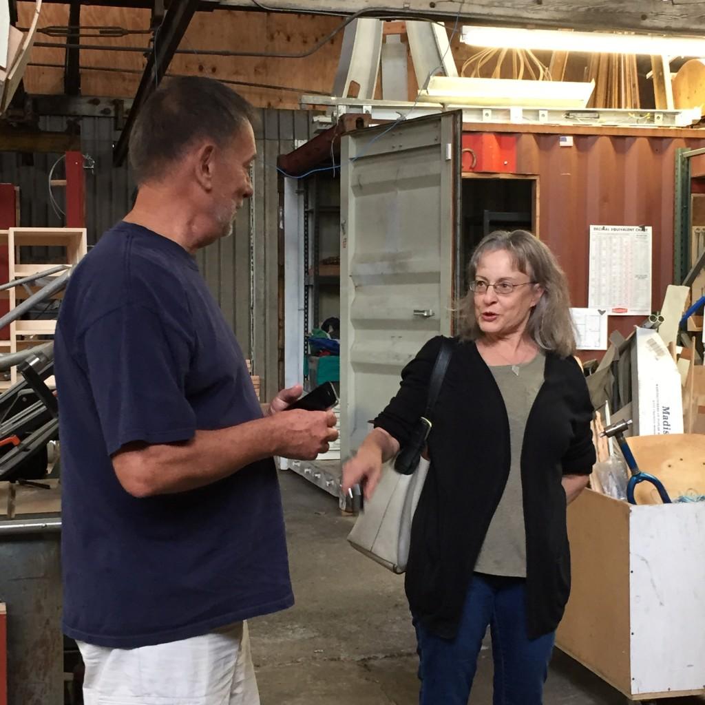 Glenn Clemmer, Leona Kockenmeister during the studio visit, July 2015