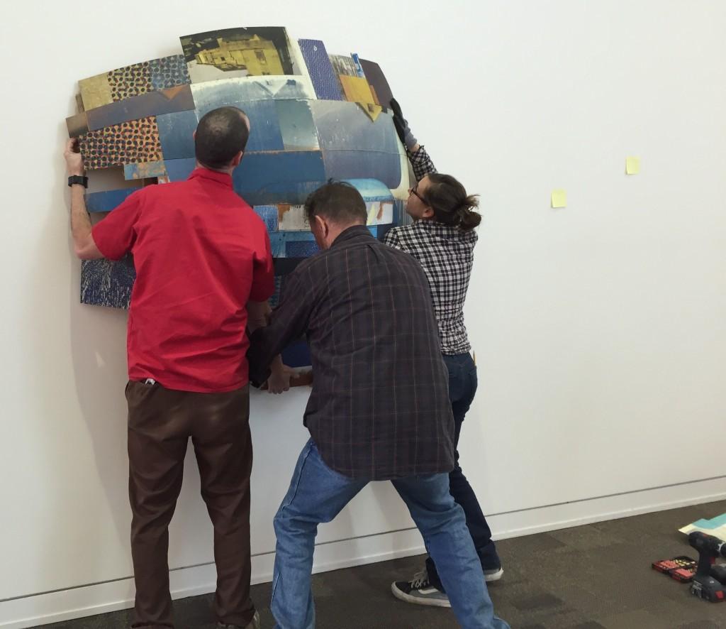 """Jeff, Glenn, Kim Miskowicz hanging """"Kit 5256"""""""