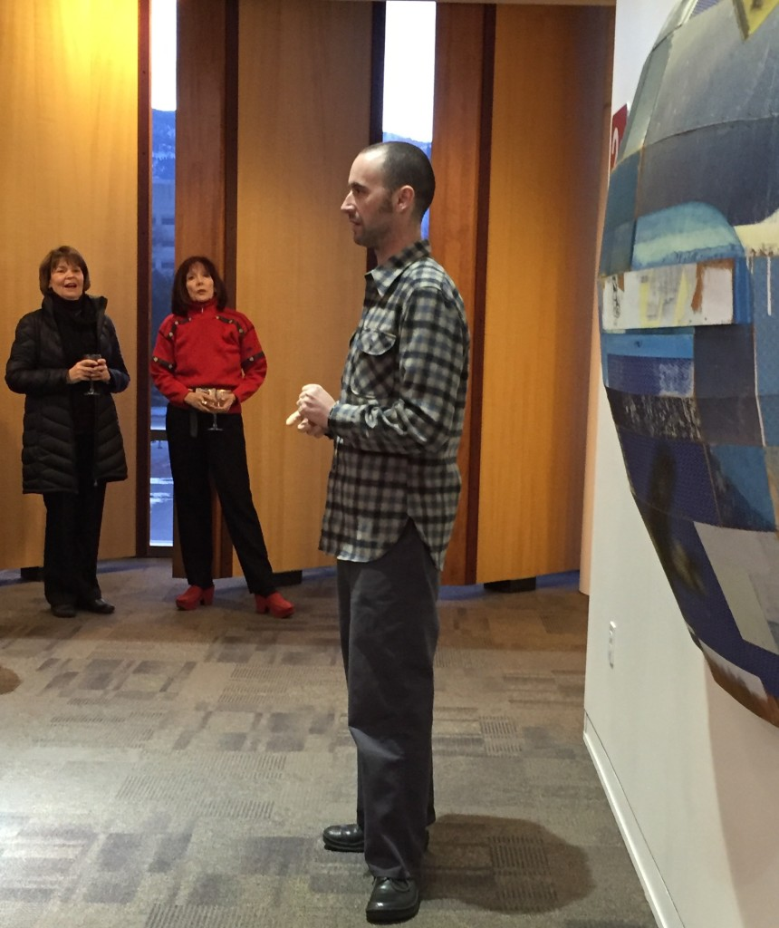 Jeff giving his gallery talk at the reception