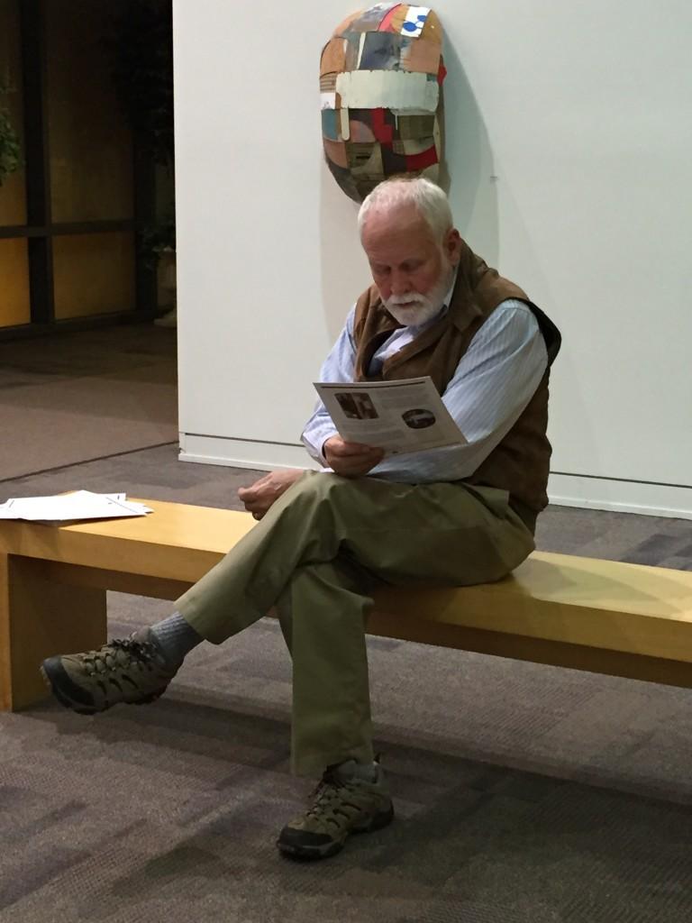 John Barrette reading the essay