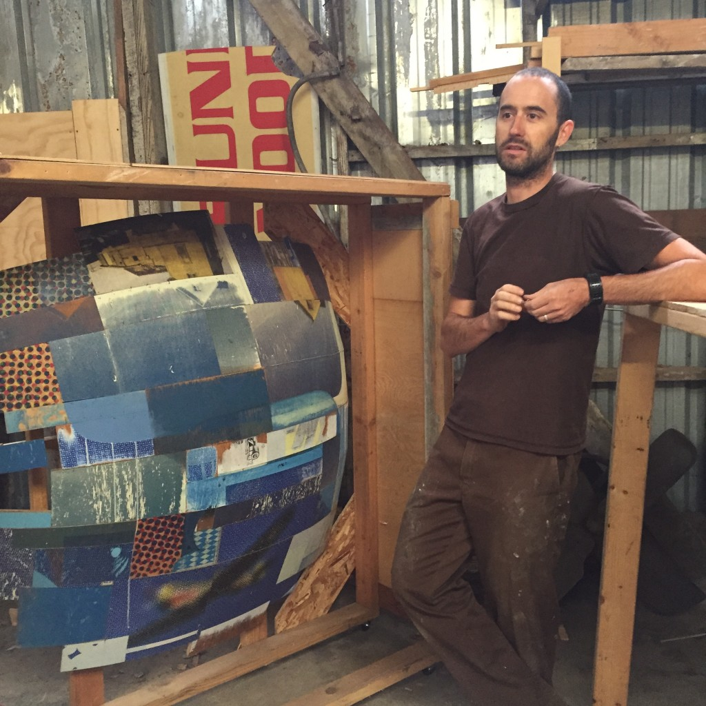 Jeff Hantman in the studio, July 2015