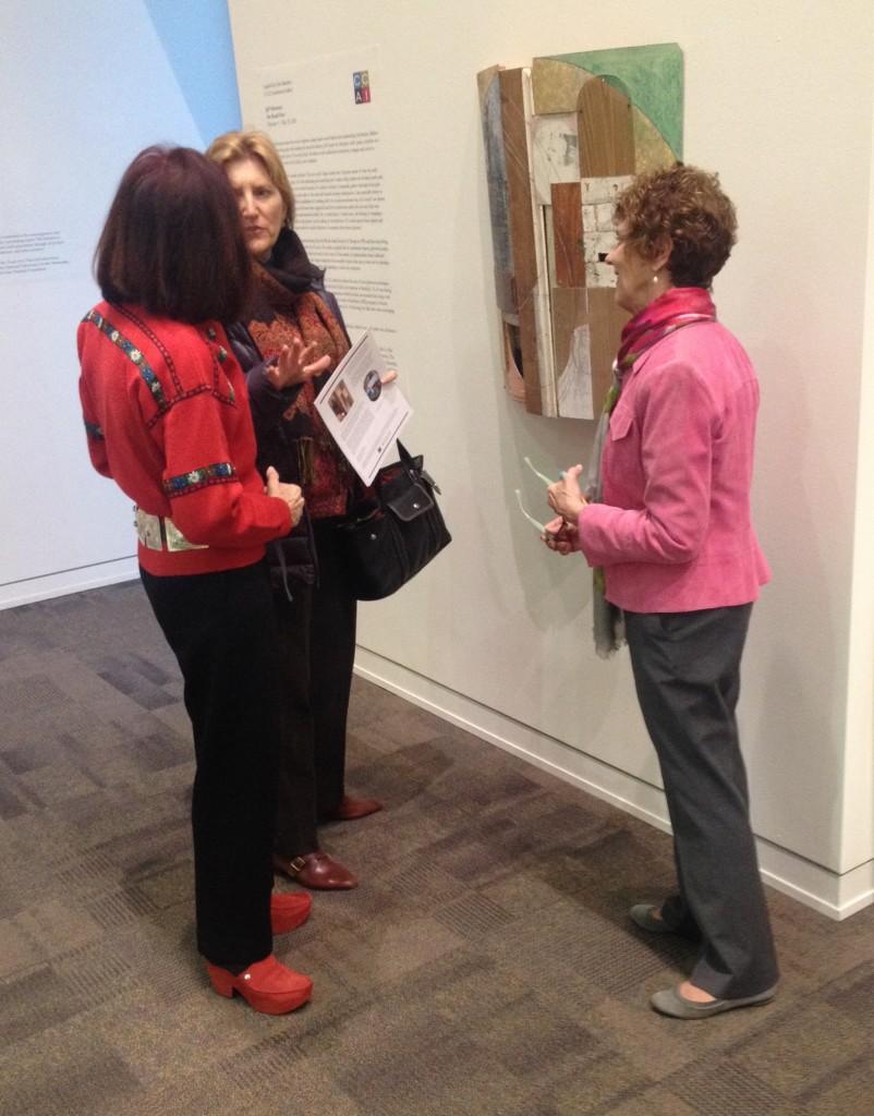 Reception guests [l-r] Linda Bellegray and Sarah Adler with Sharon Rosse
