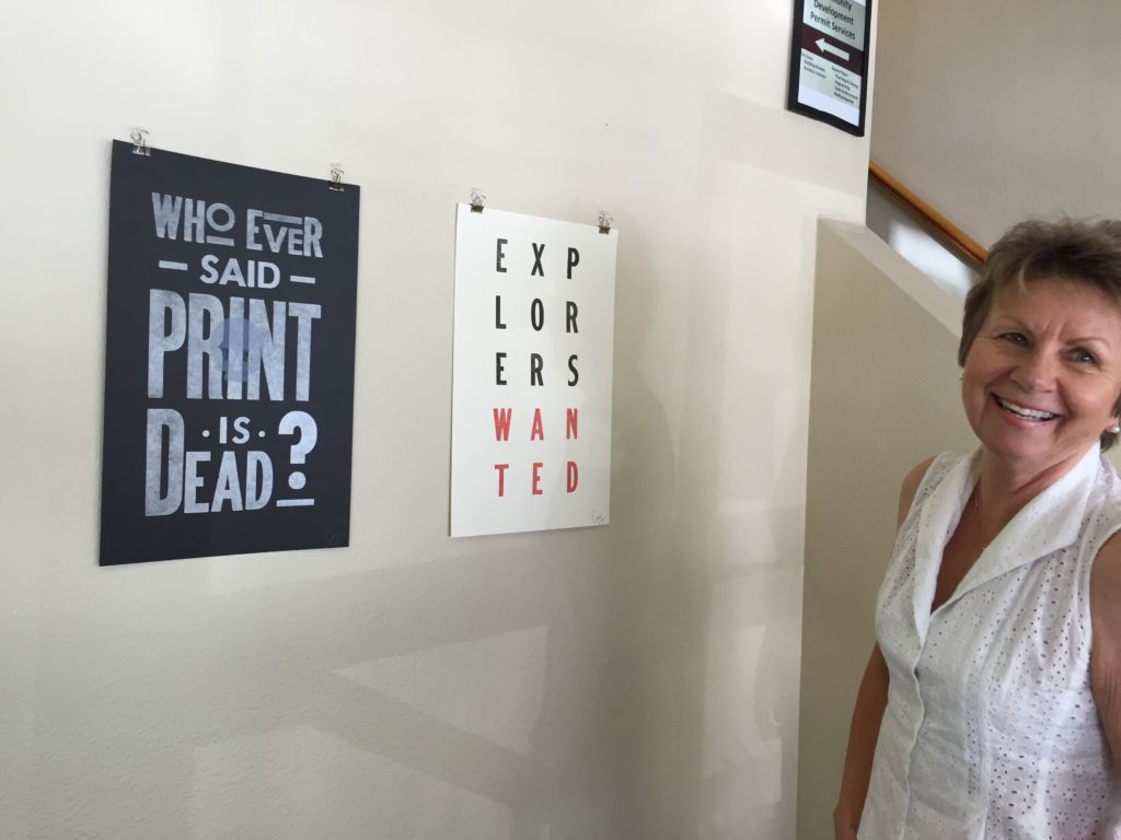 "Eva Chwalisz at the ""Print Project"" show"